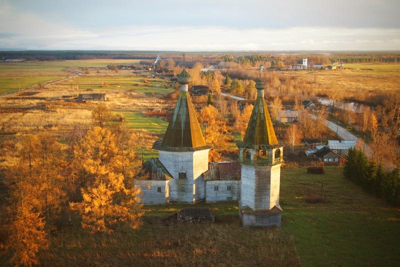 Храмы осенней Руси с высоты птичьего полета