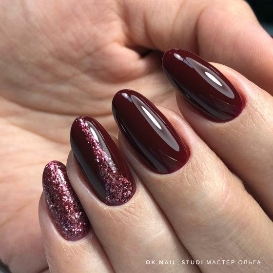 Маникюр цвета Бордо, самый модный цвет Осени