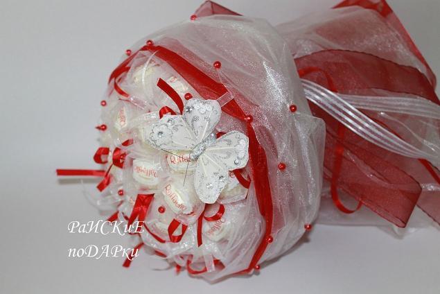 Мастер класс букеты из конфет рафаэлло своими руками пошаговое