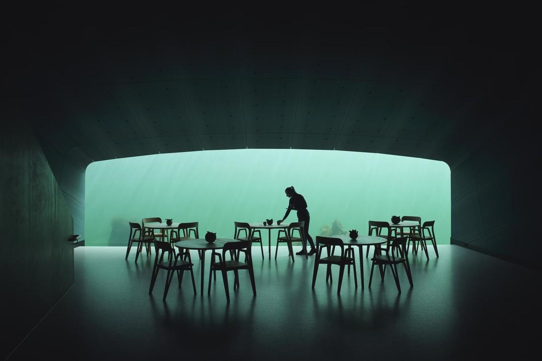 Ресторан на дне моря в Норвегии