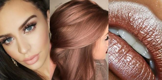 Новый тренд — розовое золото. Приветствуются в маникюре, макияже и окрашивании
