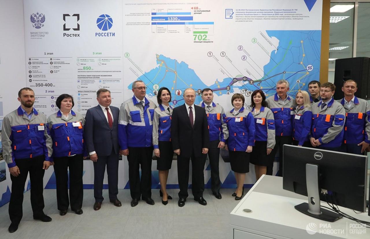 Путин запустил Балаклавскую и Таврическую ТЭС в Крыму