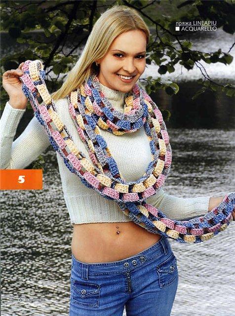 Плетем эффектный шарф