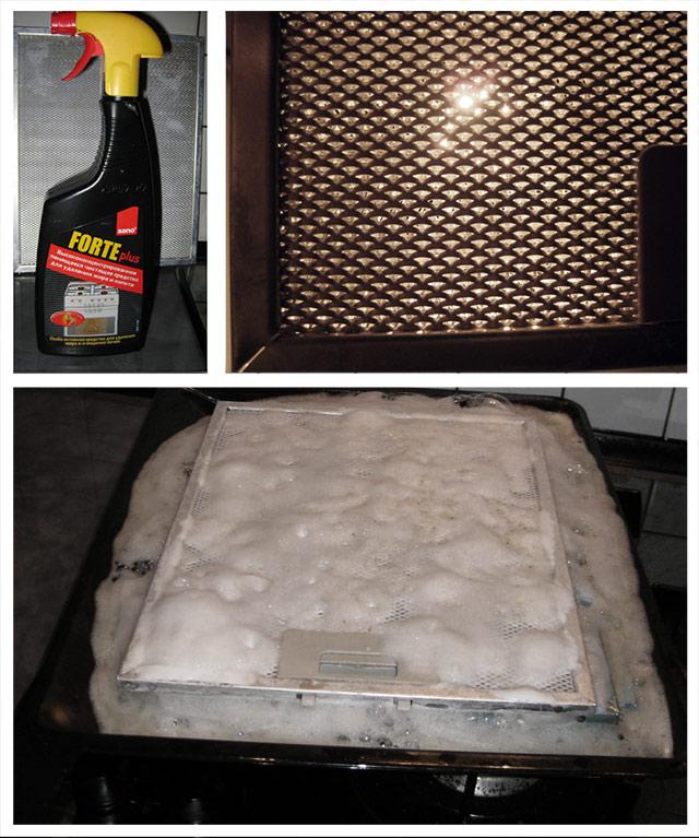 Как почистить сетку вытяжки от жира в домашних условиях