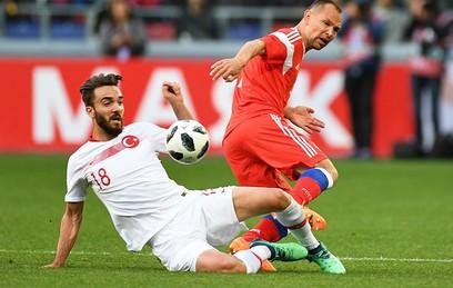 Последний матч сборной России перед домашним ЧМ завершился вничью