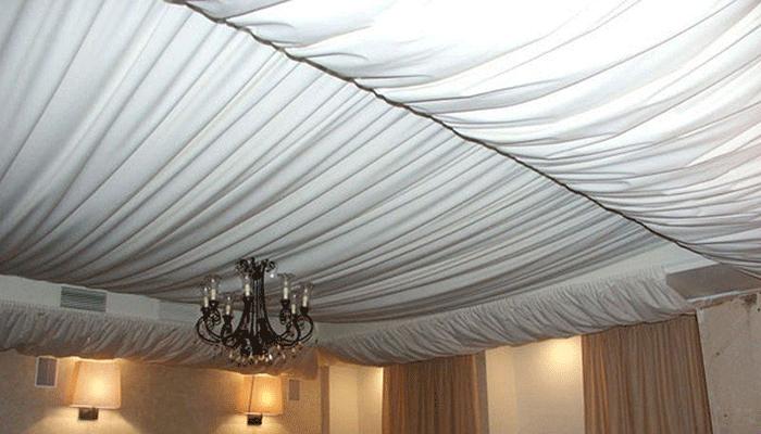 Как сделать тканевый потолок видео