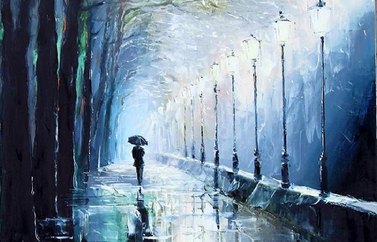 «Я вернусь к вам дождем проливным»: Дождь в стихотворных строках и на живописных полотнах