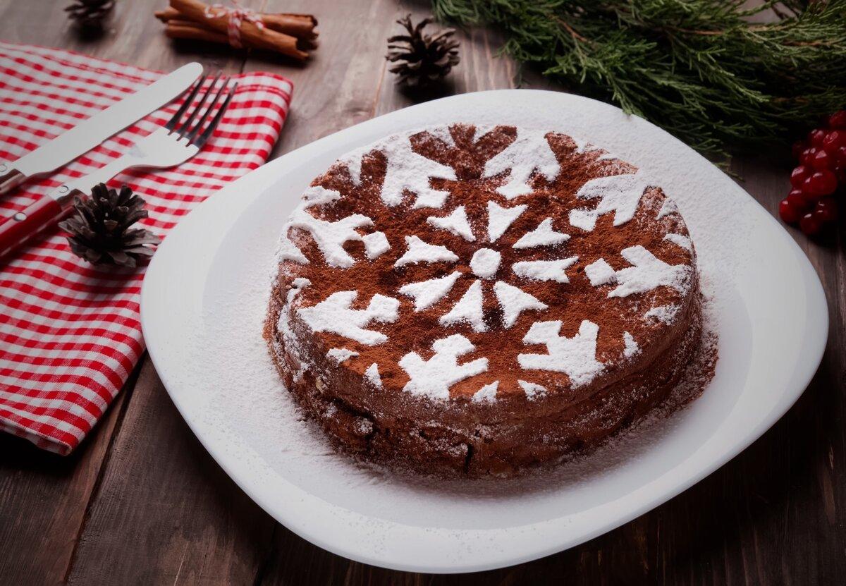 Мандариновый кекс посыпанный сахарной пудрой. Фото — Яндекс.Картинки