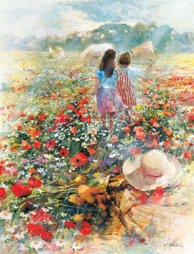 Willem Haenraets. Воздушная живопись. Summer of love