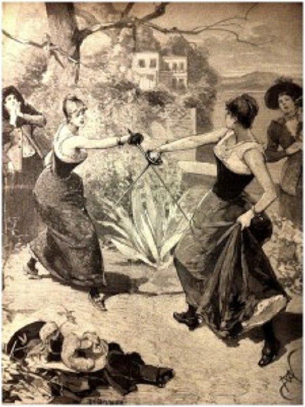 Женские дуэли. Причины, правила и техника дуэли, женщины, история, факты
