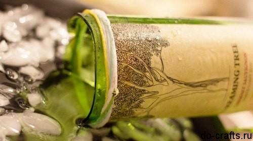 Как разрезать стеклянную бутылку ниткой главная