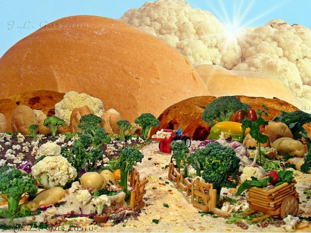 Картины исключительно из пищевых продуктов
