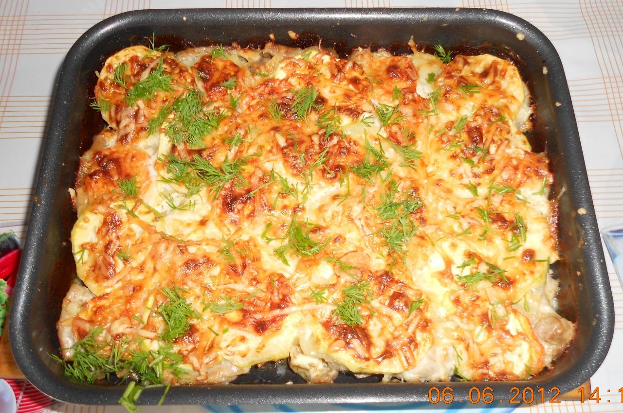 Запеканка из кабачков с рисом в духовке рецепт пошаговый