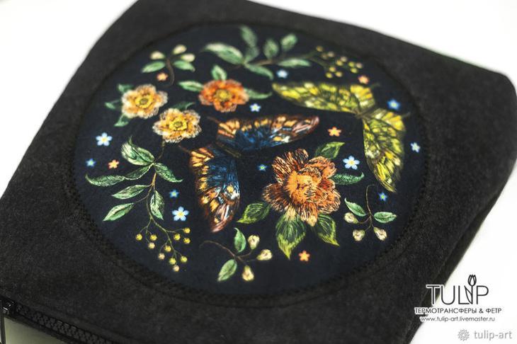 Как сшить весеннюю сумку с имитацией вышивки