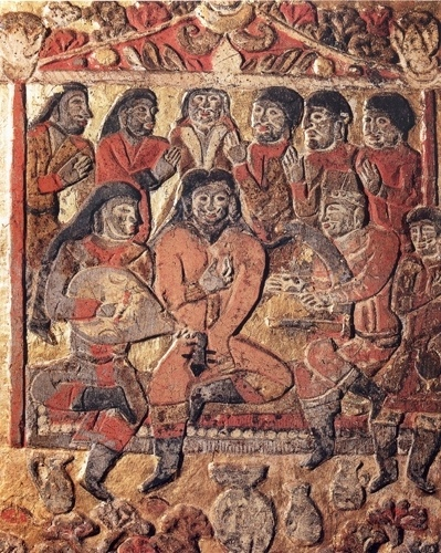 Древние тюрки: костюм на разноцветных изображениях