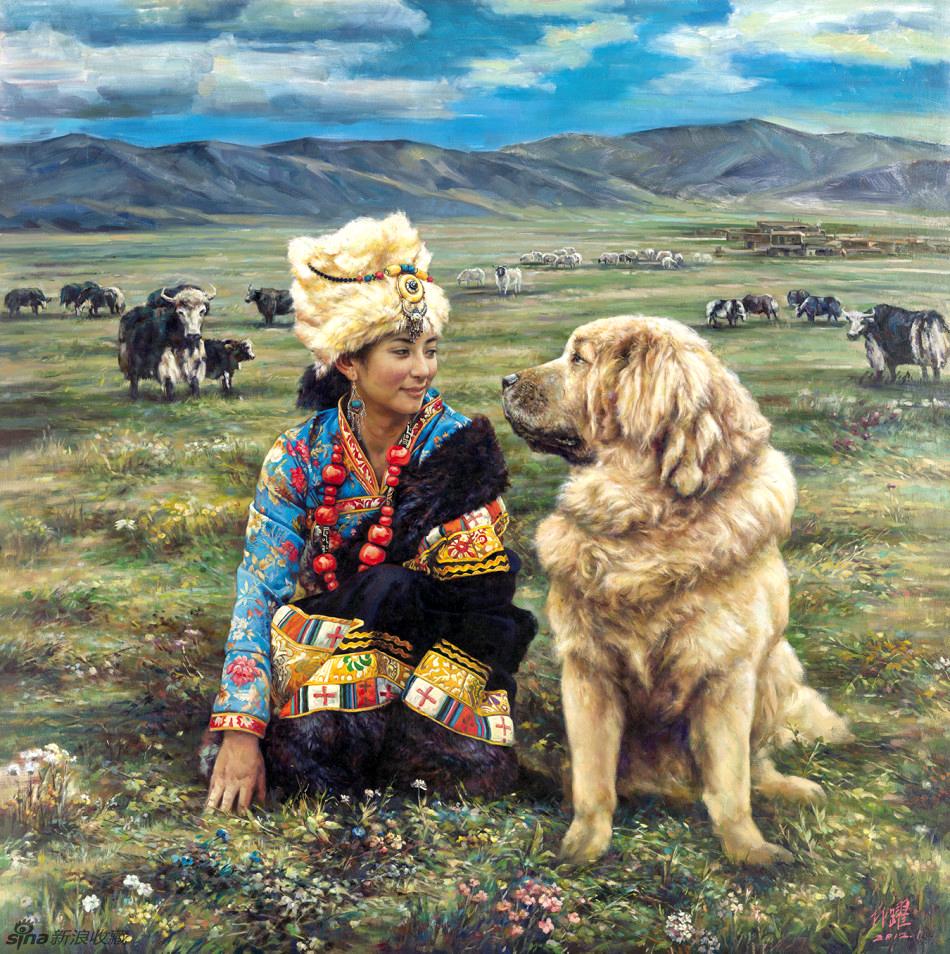 Китайский художник Линь Юэ, Тибетские мастифы
