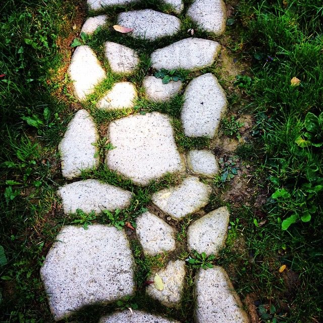 Дорожка из камня своими руками фото