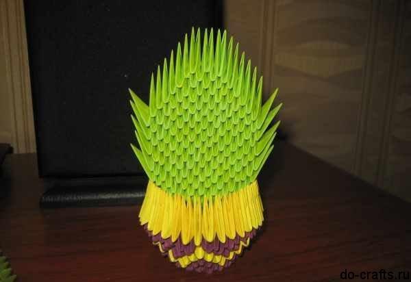 Горшок для кактуса оригами