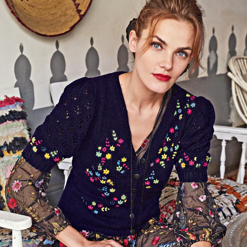 Жакет с вышивкой «Мильфлер»