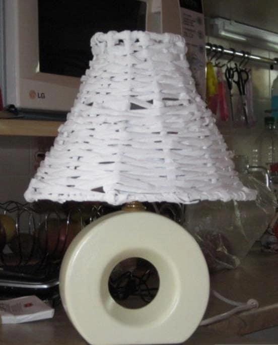 Абажур своими руками для настольной лампы