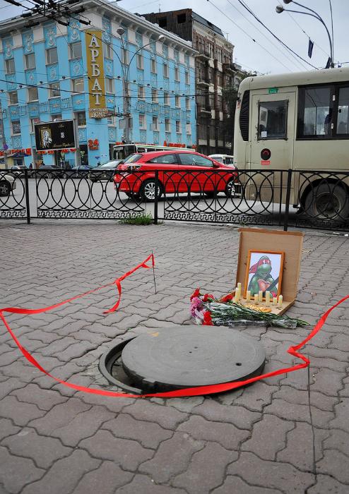 Мемориал Рафаэлю из «Черепашек ниндзя» в Ростове.