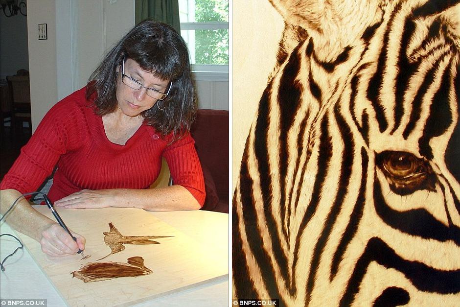 Julie Bender 6 Потрясающие картины, выжженные на кленовых дощечках