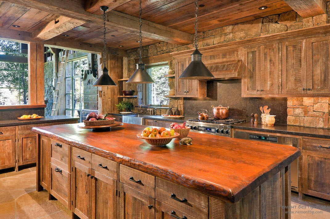 Интерьер своими руками в деревянном стиле