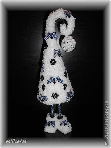 Мастер-класс Поделка изделие Новый год Моделирование конструирование Ёлочка-топотушка Снежная ночка Бумага Бусинки Материал бросовый Пряжа фото 25