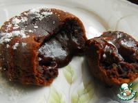 Шоколадное горячее пирожное с жидкой начинкой ингредиенты