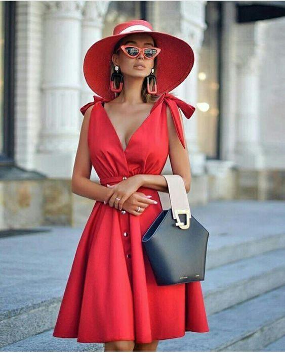 Шикарное красное платье — 10 великолепных образов