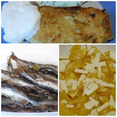 Капустные оладьи, шпроты из мойвы и салат из апельсинов -похвастушки