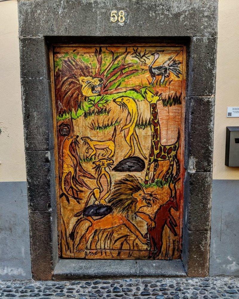 24. дверь, картина, мадейра, португалия, путешествие, фотография, фотомир