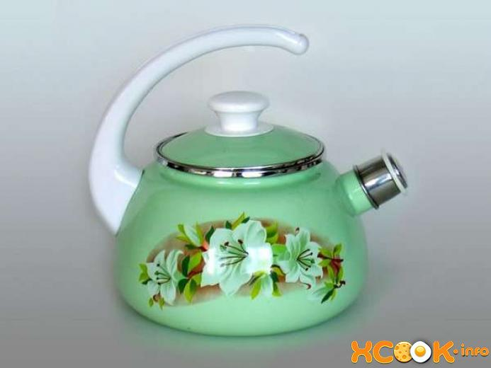 убрать накипь внутри чайника