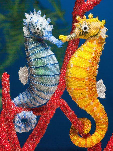 Реалистичные скульптуры из бисера своими руками, сделай сам, красота, Бисероплетение