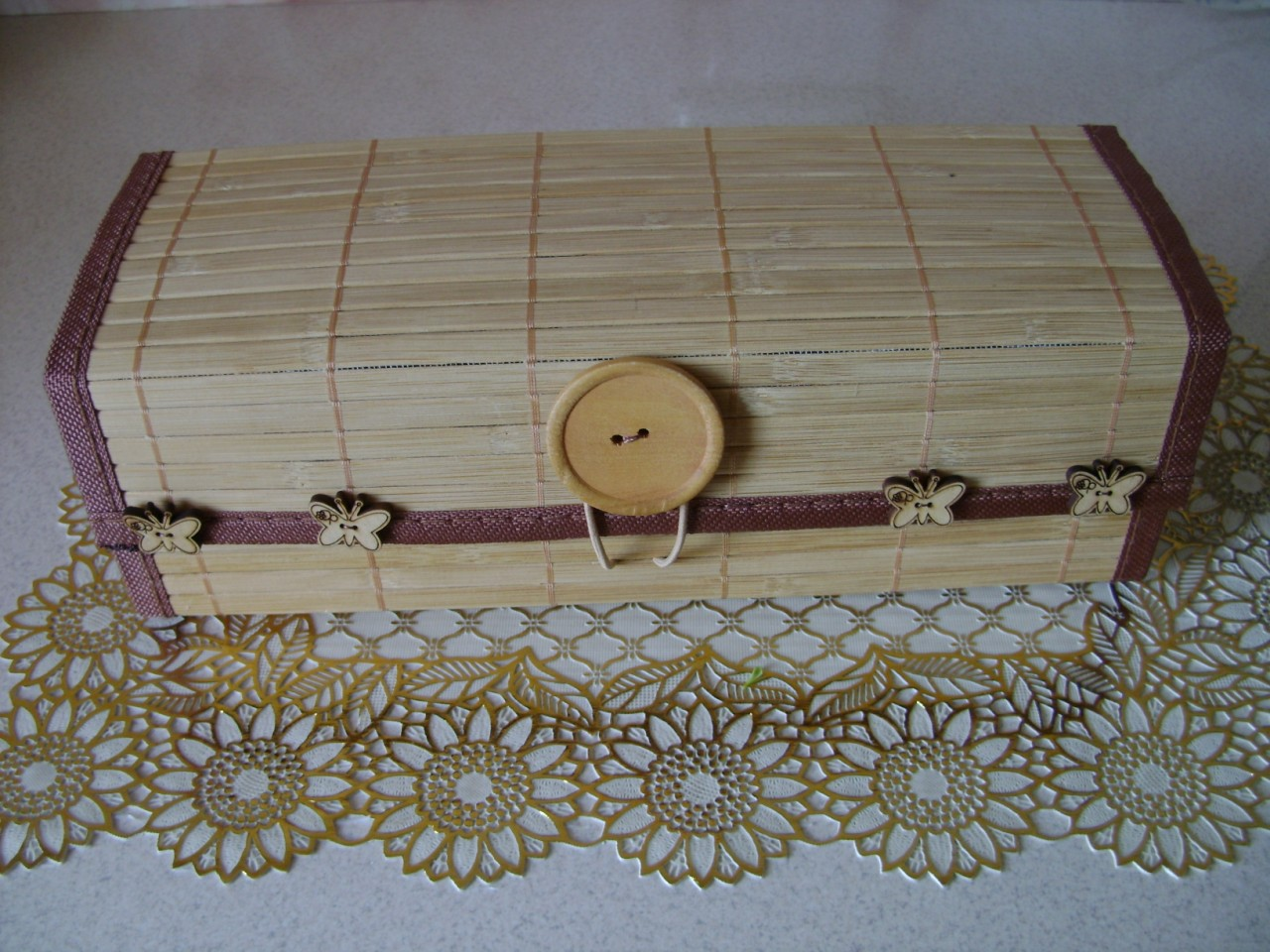 Шкатулки из бамбуковых салфеток Страна Мастеров 79
