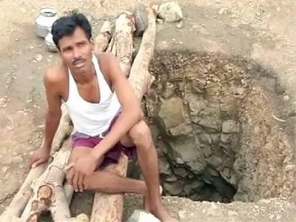 Индиец 40 дней рыл яму чтобы спасти деревню