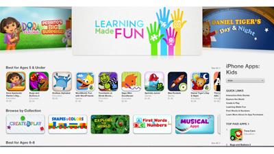 Apple открыла детский App Store