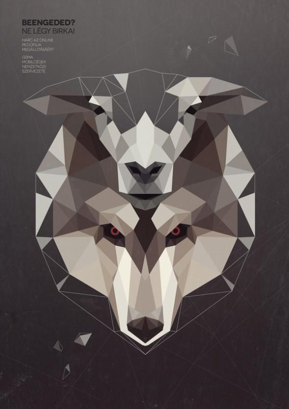 Вдохновляющие примеры геометрических иллюстраций