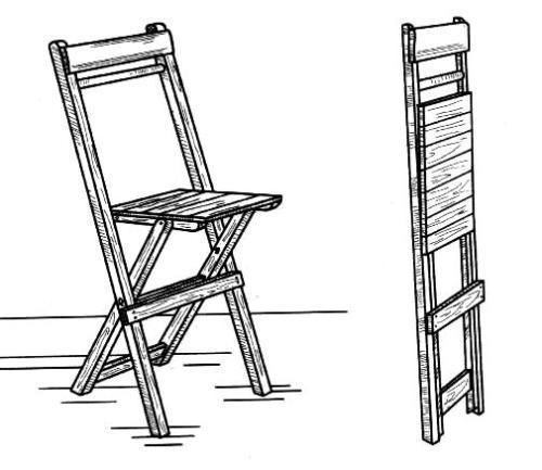 Как сделать деревянный стульчик своими руками