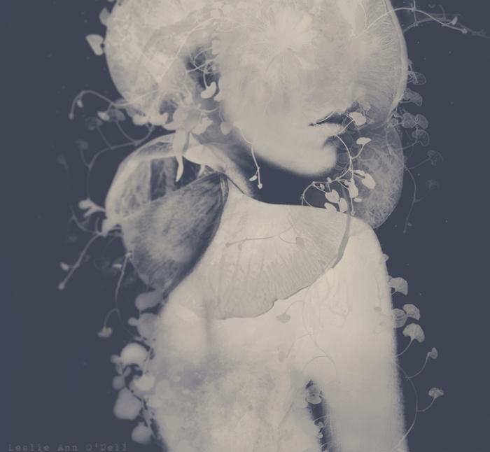 Портреты таинственных девушек. Автор работ: фото-иллюстратор Лесли Энн О'Делл (Leslie Ann O'Dell).