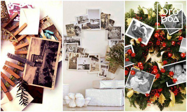 рождественский венок из фотографий