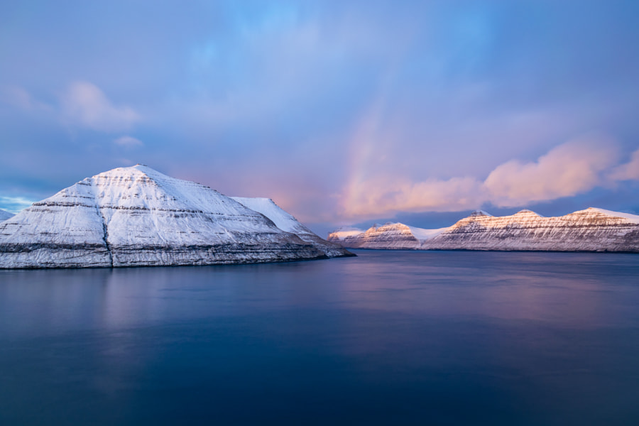 Beautiful winter sunset in Faroe Islsnds by James Currie on 500px.com