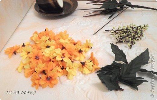Мастер-класс Поделка изделие Флористика День рождения Цветочная кружечка Клей фото 6