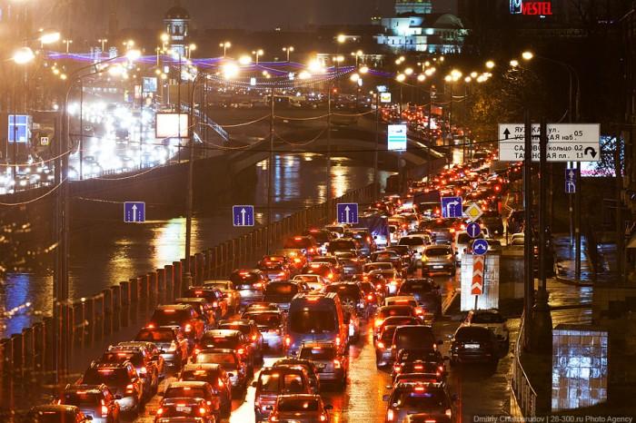 Многокилометровые московские пробки…