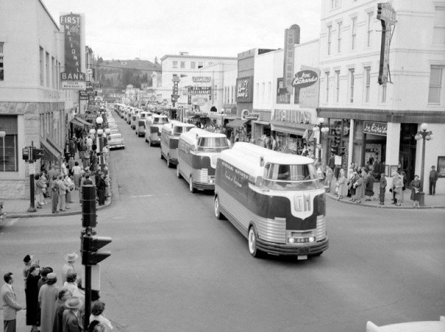 Автобус General Motors «Futurliner» на «Параде прогресса», 1939 год. история, люди, мир, фото