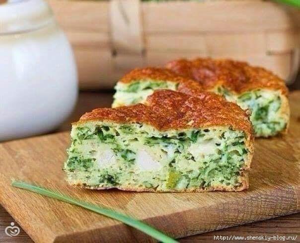 ПОСИДИМ, ПОЕДИМ...Пирог с курицей и зелёным луком
