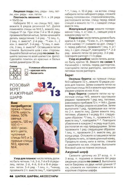 Шапочки, берты, аксессуары. Спецвыпуск Журнал Вязание модно и просто №10 2010
