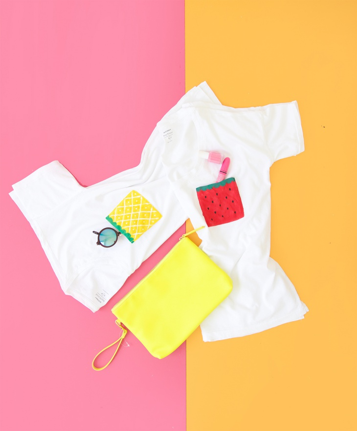 Фруктово-ягодные футболки (Diy)