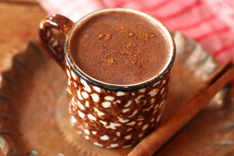 Изображение рецепта Горячий смузи с шоколадом и йогуртом