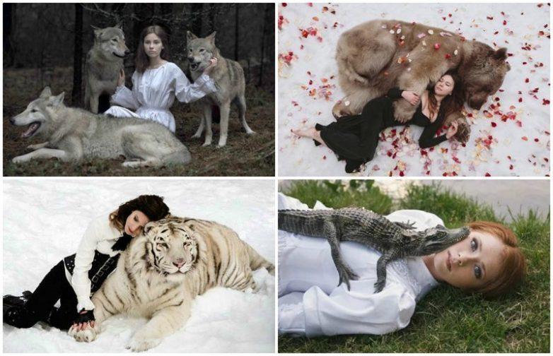Удивительные портреты девушек с дикими животными